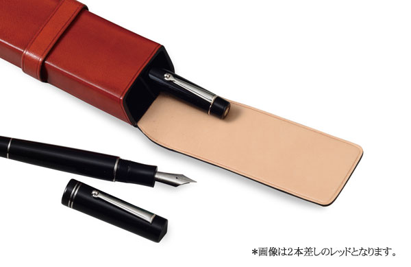 Il Bussetto イルブセット ペンケース 2本差し 7815105 レッド-2