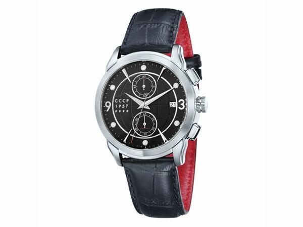 シーシーシーピー CCCP クオーツ クロノ メンズ 腕時計 CP-7002-01 ブラック-1