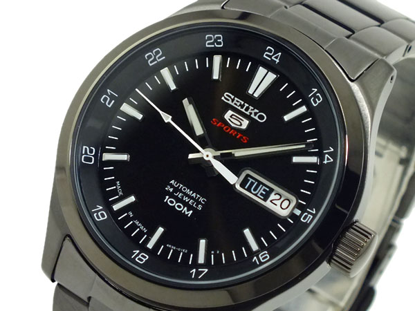SEIKO 5 SPORTS スポーツ 逆輸入 自動巻き 日本製 メンズ 腕時計 SRP267J1 ブラック メタルベルト-1