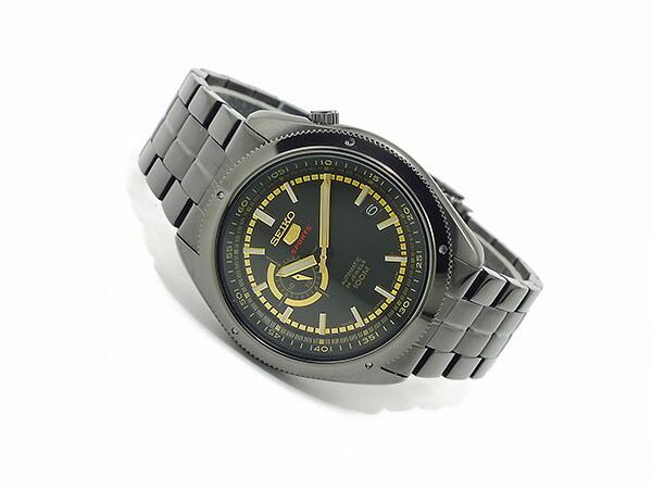SEIKO 5 SPORTS スポーツ 逆輸入 自動巻き 日本製 メンズ 腕時計 SSA071J1 ブラック×ゴールド メタルベルト-2