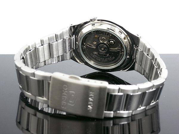 SEIKO 5 セイコー5 逆輸入 日本製 自動巻き メンズ 腕時計 SNKC55J1 ブラック×シルバー メタルベルト-3