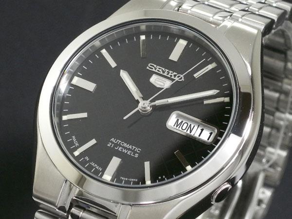 SEIKO 5 セイコー5 逆輸入 日本製 自動巻き メンズ 腕時計 SNKG13J1 ブラック×シルバー-1