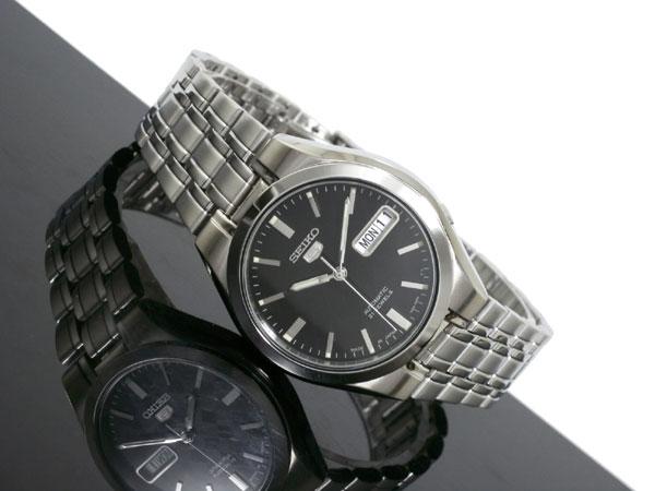 SEIKO 5 セイコー5 逆輸入 日本製 自動巻き メンズ 腕時計 SNKG13J1 ブラック×シルバー-2