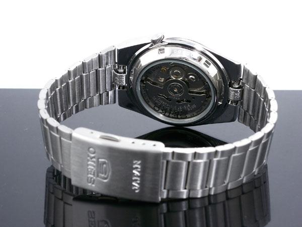 SEIKO 5 セイコー5 逆輸入 日本製 自動巻き メンズ 腕時計 SNXM19J5 ブラック×シルバー メタルベルト-3