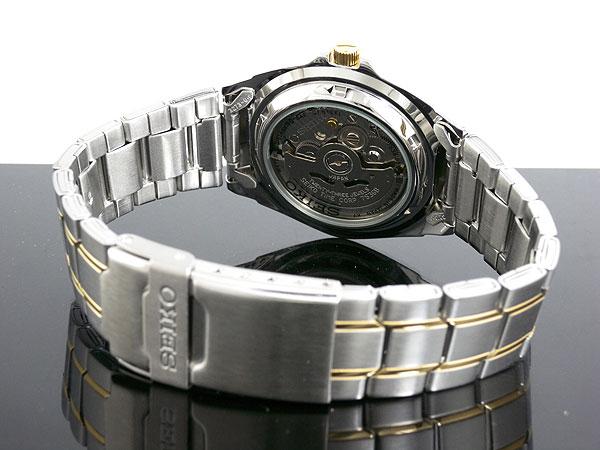 セイコー SEIKO 5 SPORTS 逆輸入 日本製 自動巻き メンズ 腕時計 SNZB24J1 シルバー×ゴールド メタルベルト -3