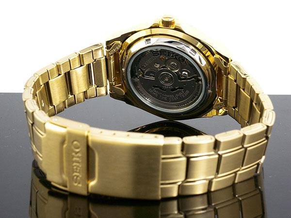 セイコー SEIKO セイコー5 スポーツ 5 SPORTS 日本製 自動巻き 腕時計 SNZB26J1 メンズ ゴールド メタルベルト-3