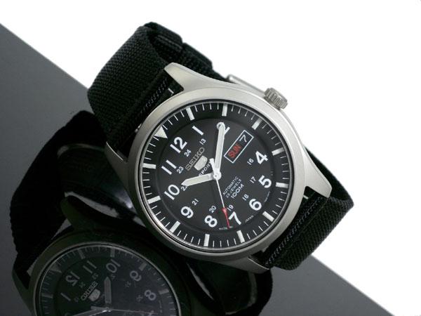 セイコー SEIKO 5 SPORTS スポーツ 逆輸入 日本製 自動巻き メンズ 腕時計 SNZG15J1 ブラック ナイロンベルト-2