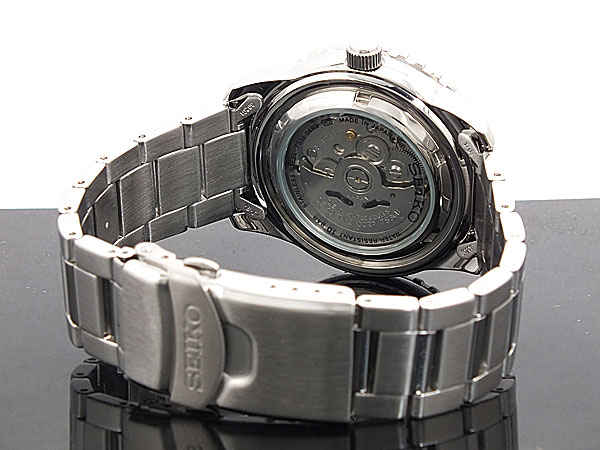 セイコー SEIKO 5 SPORTS 逆輸入 日本製 自動巻き メンズ 腕時計 SNZH53J1 ブルー×シルバー メタルベルト-3
