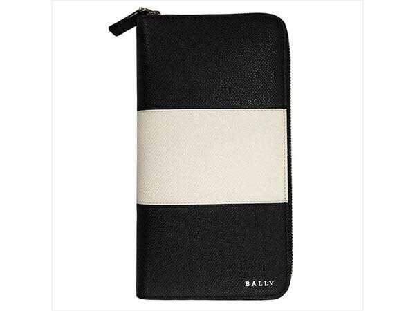 BALLY バリー 6205521 二つ折り長財布 LITEVIN BOLD 00 ブラック メンズ-1