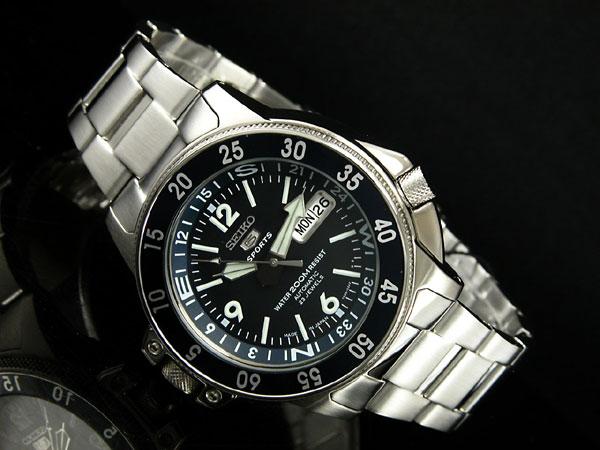 SEIKO 5 SPORTS ダイバーズ 自動巻き 日本製 メンズ 腕時計 アトラス SKZ209J1 ブルー×シルバー メタルベルト-2