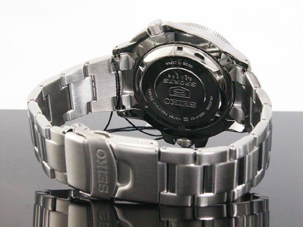 SEIKO 5 SPORTS ダイバーズ 自動巻き 日本製 メンズ 腕時計 アトラス SKZ209J1 ブルー×シルバー メタルベルト-3