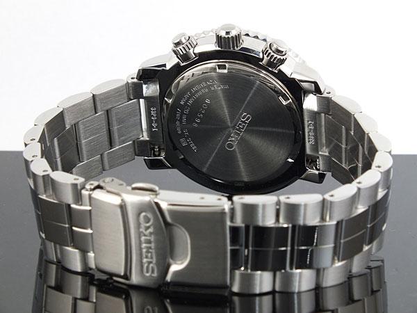 セイコー SEIKO 逆輸入 腕時計 パイロット アラーム クロノグラフ SNA411P1 メンズ ブラック×シルバー メタルベルト-3