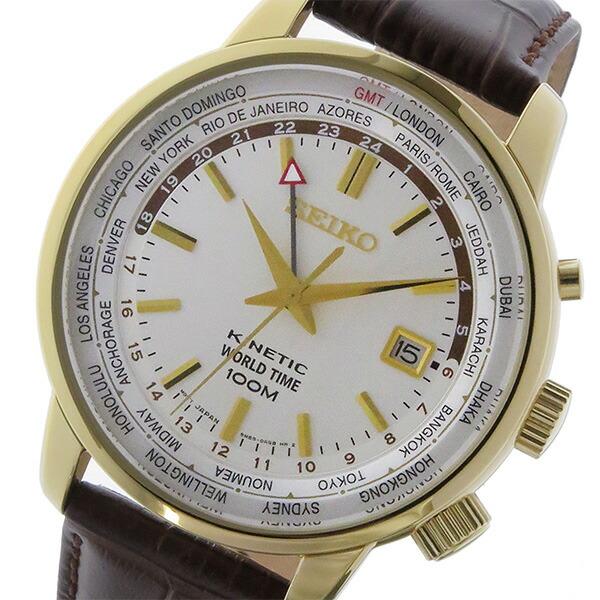 セイコー SEIKO キネティック クオーツ メンズ 腕時計 SUN070P1 ホワイト-1