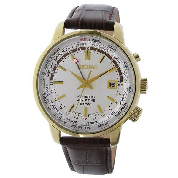 セイコー SEIKO キネティック クオーツ メンズ 腕時計 SUN070P1 ホワイト-2