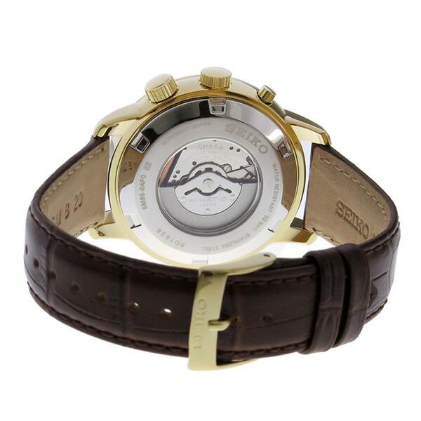 セイコー SEIKO キネティック クオーツ メンズ 腕時計 SUN070P1 ホワイト-3