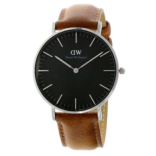 ダニエル ウェリントン クラシック ブラック ダラム/シルバー 36mm ユニセックス 腕時計 DW00100144-2