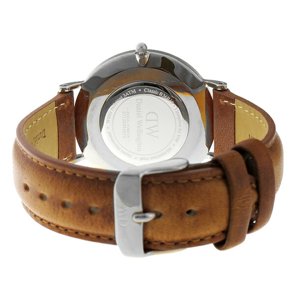 ダニエル ウェリントン クラシック ブラック ダラム/シルバー 36mm ユニセックス 腕時計 DW00100144-3