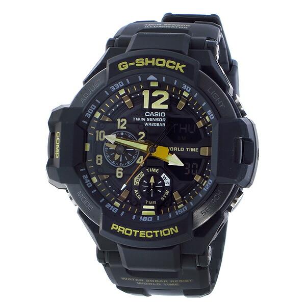 カシオ Gショック スカイコックピット クオーツ メンズ 腕時計 GA-1100GB-1A ブラック-2