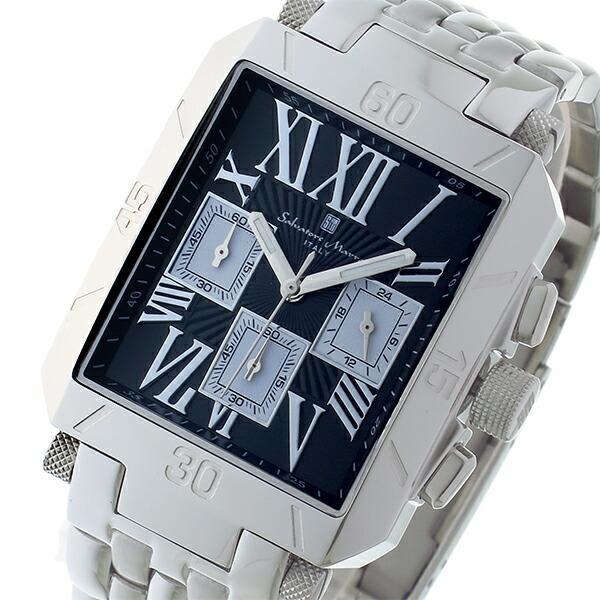 サルバトーレマーラ クロノグラフ クオーツ メンズ 腕時計 SM17117-SSBKSV-1