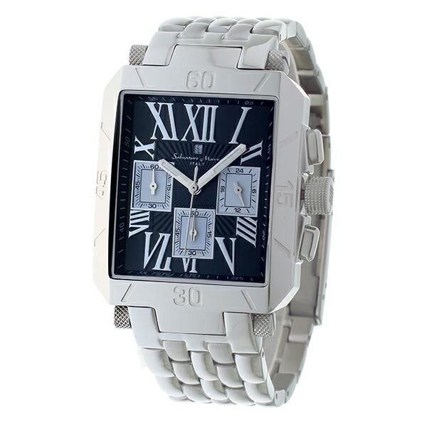 サルバトーレマーラ クロノグラフ クオーツ メンズ 腕時計 SM17117-SSBKSV-2