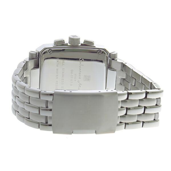 サルバトーレマーラ クロノグラフ クオーツ メンズ 腕時計 SM17117-SSBKSV-3