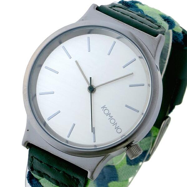 コモノ KOMONO Wizard Woven-Mixed Greens クオーツ レディース 腕時計 KOM-W1850 シルバー-1