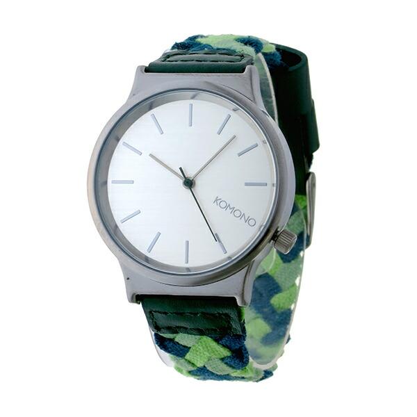 コモノ KOMONO Wizard Woven-Mixed Greens クオーツ レディース 腕時計 KOM-W1850 シルバー-2