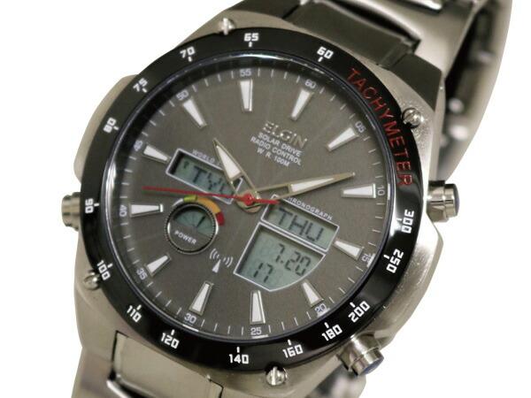 エルジン ELGIN 腕時計 ワールドタイム 電波 ソーラー メンズ FK1416B-BP-1