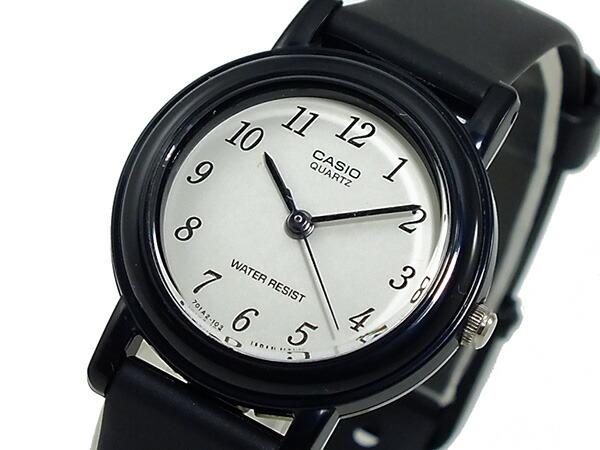 カシオ CASIO ベーシック 海外モデル レディース 腕時計 LQ-139BMV-1BL ホワイト×ブラック ラバーベルト-1