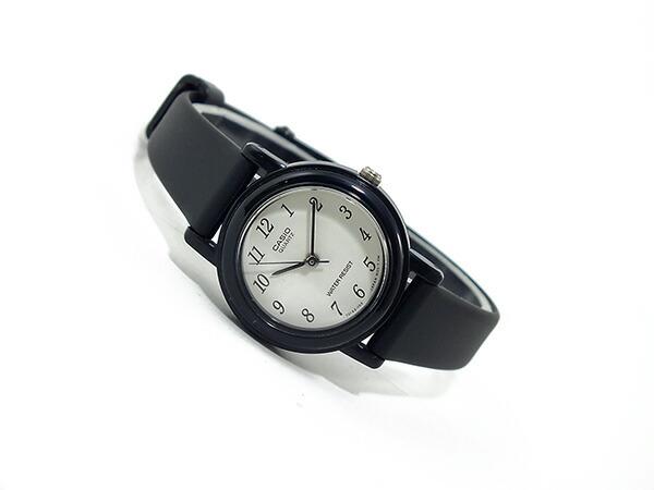 カシオ CASIO ベーシック 海外モデル レディース 腕時計 LQ-139BMV-1BL ホワイト×ブラック ラバーベルト-2