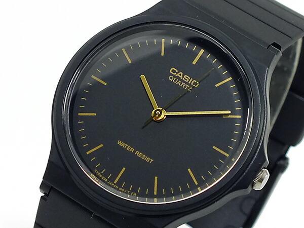 カシオ CASIO ベーシック 逆輸入 クオーツ メンズ 腕時計 MQ-24-1EL ブラック ラバーベルト-1