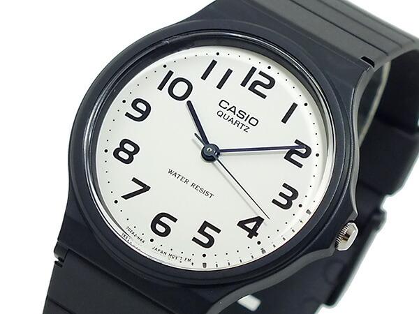 カシオ CASIO ベーシック 逆輸入 クオーツ メンズ 腕時計 MQ-24-7B2L ホワイト×ブラック メンズ-1