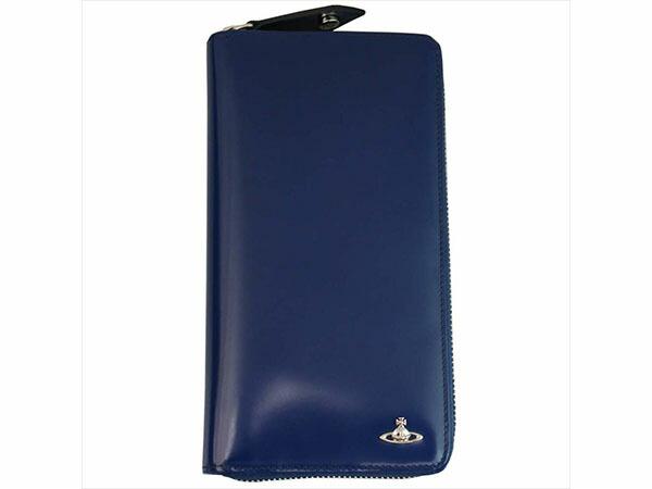 ヴィヴィアン ウエストウッド Vivienne Westwood 長財布 メンズ 33.350 ブルー/グリーン-1