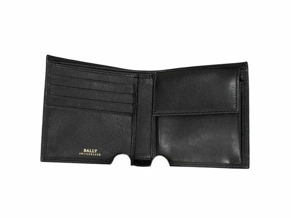 BALLY バリー TYE 290/BLACK 二つ折り 短財布 メンズ 6166596-2