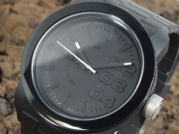 ディーゼル DIESEL フランチャイズ FRANCHISE 腕時計 DZ1437 メンズ レディース オールブラック ラバーベルト-1