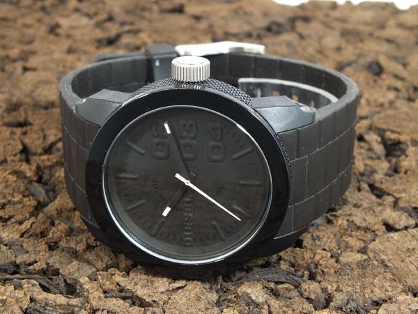 ディーゼル DIESEL フランチャイズ FRANCHISE 腕時計 DZ1437 メンズ レディース オールブラック ラバーベルト-2