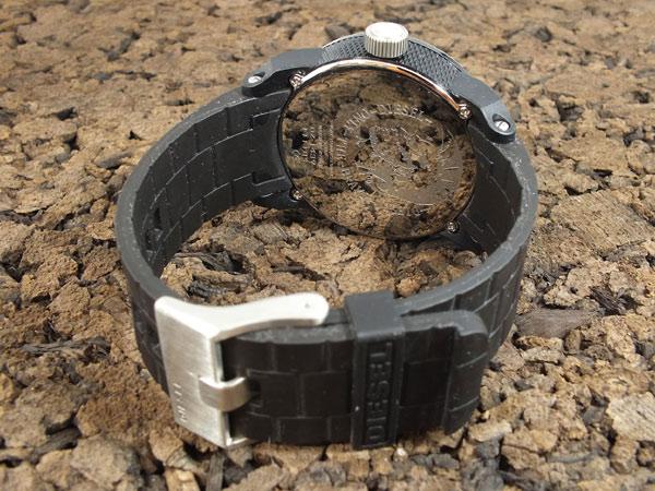 ディーゼル DIESEL フランチャイズ FRANCHISE 腕時計 DZ1437 メンズ レディース オールブラック ラバーベルト-3