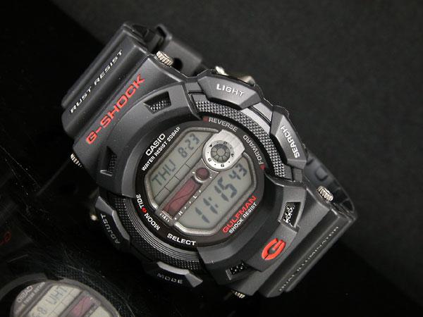 カシオ CASIO Gショック G-SHOCK 逆輸入 ガルフマン 腕時計 G-9100-1 メンズ ブラック ラバーベルト-2