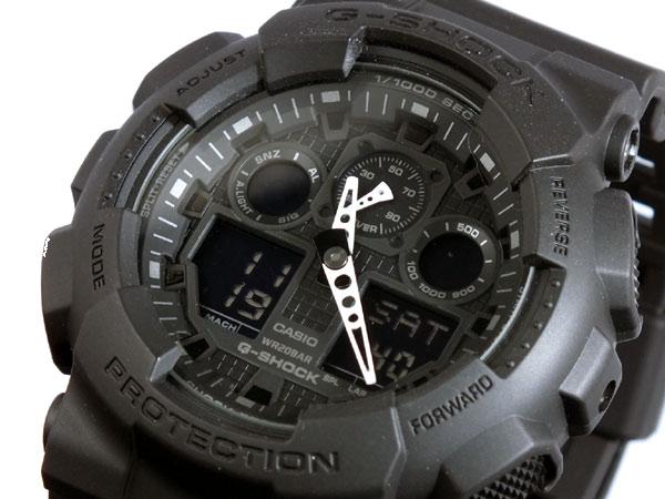 カシオ CASIO Gショック G-SHOCK アナデジ メンズ 腕時計 GA-100-1A1 ブラック ラバーベルト-1