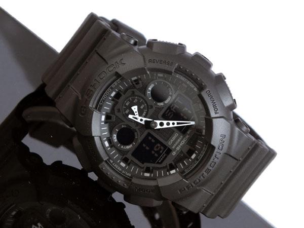 カシオ CASIO Gショック G-SHOCK アナデジ メンズ 腕時計 GA-100-1A1 ブラック ラバーベルト-2