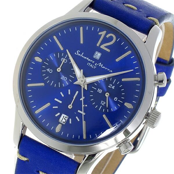 サルバトーレマーラ クロノグラフ クオーツ メンズ 腕時計 SM17110-SSBL-1