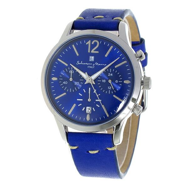 サルバトーレマーラ クロノグラフ クオーツ メンズ 腕時計 SM17110-SSBL-2
