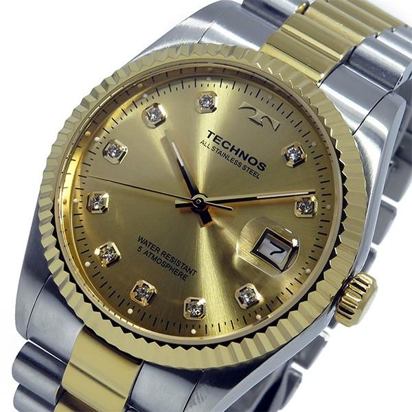 テクノス TECHNOS 腕時計 メンズ T9604TC クオーツ-2