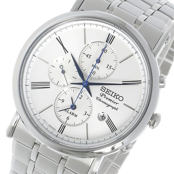 セイコー SEIKO プルミエ Premier クロノグラフ クオーツ メンズ 腕時計 SNAF73P1 ホワイト-1