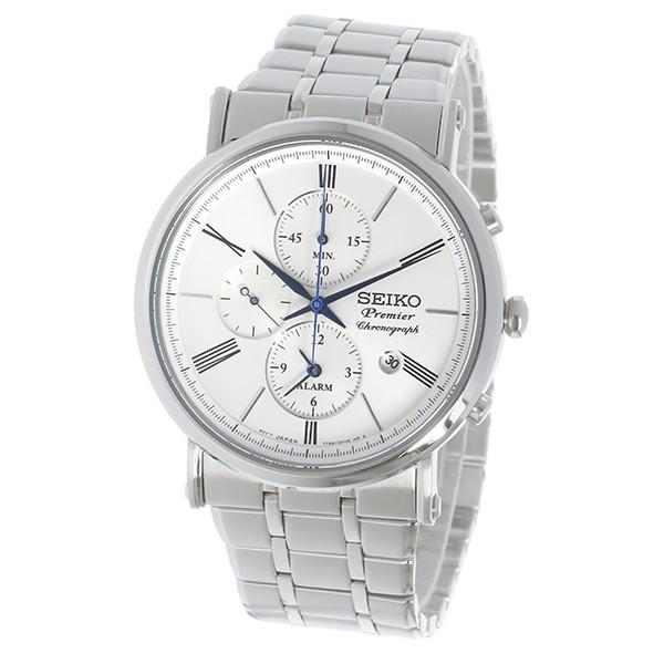 セイコー SEIKO プルミエ Premier クロノグラフ クオーツ メンズ 腕時計 SNAF73P1 ホワイト-2