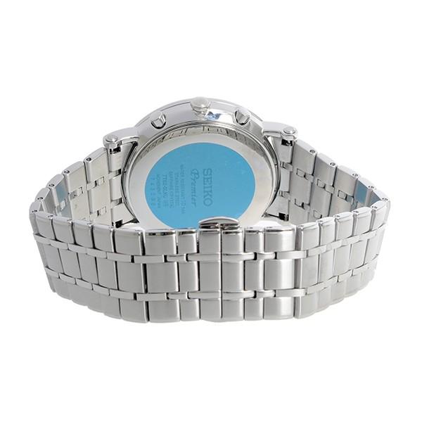 セイコー SEIKO プルミエ Premier クロノグラフ クオーツ メンズ 腕時計 SNAF73P1 ホワイト-3