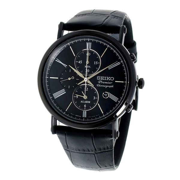 セイコー SEIKO プルミエ Premier クロノグラフ クオーツ メンズ 腕時計 SNAF79P1 ブラック-2