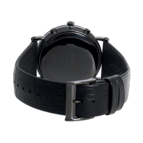 セイコー SEIKO プルミエ Premier クロノグラフ クオーツ メンズ 腕時計 SNAF79P1 ブラック-3