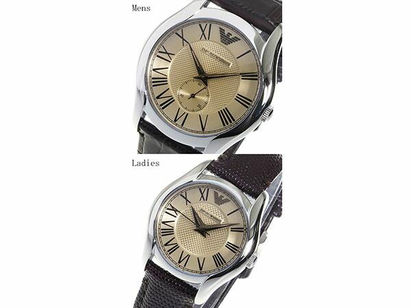 エンポリオアルマーニ EMPORIO ARMANI 腕時計 クオーツ ペアウォッチ 腕時計 AR9110 ブラウン-2