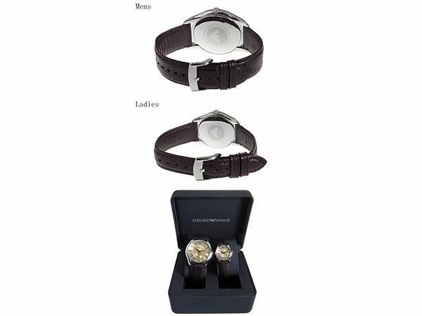 エンポリオアルマーニ EMPORIO ARMANI 腕時計 クオーツ ペアウォッチ 腕時計 AR9110 ブラウン-3